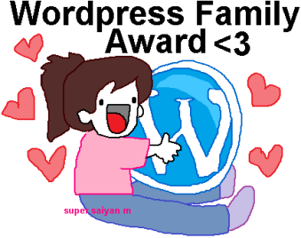 I'M PART OF THE WORD PRESS FAMILY AWARD